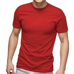 Изчистена червена мъжка тениска