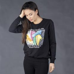 Спортна дамска блуза с пайети
