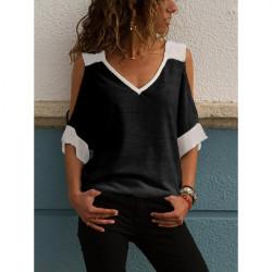 Привлекателна дамска блуза с голо рамо в черно