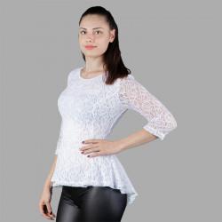 Дамска блуза от дантела с гол гръб