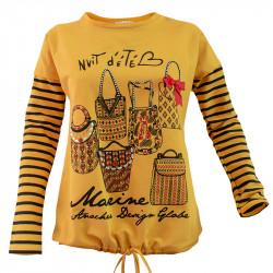 Жълт блузон за тийнейджъри  PARIS