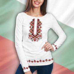 3D дамска блузa с фолклорни мотиви