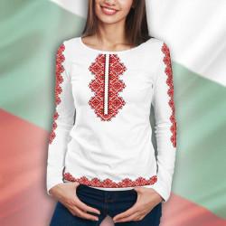 3D дамска блузa с принт от български шевици