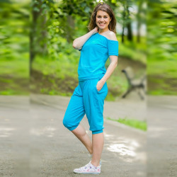 Спортен дамски комплект Blue