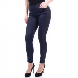 Спортно елегантен дамски панталон с кожа Navy