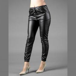Стилен дамски кожен панталон