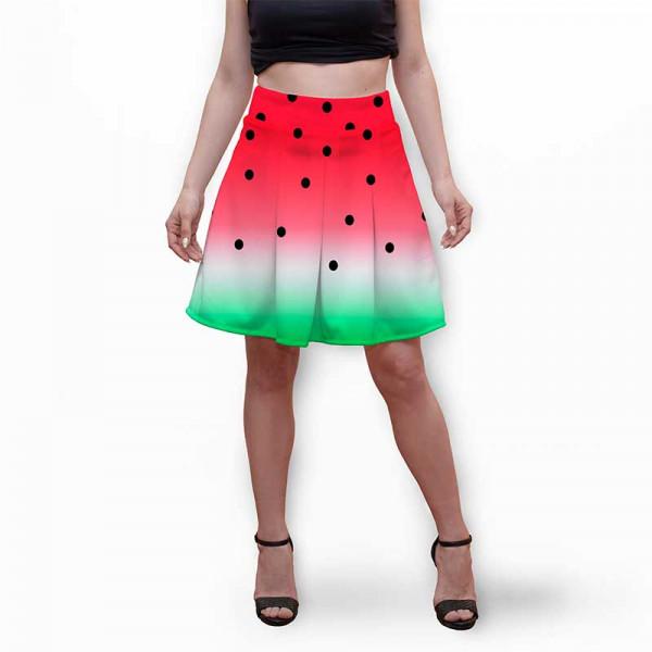 Разкроена дамска пола с 3D авторски принт WM
