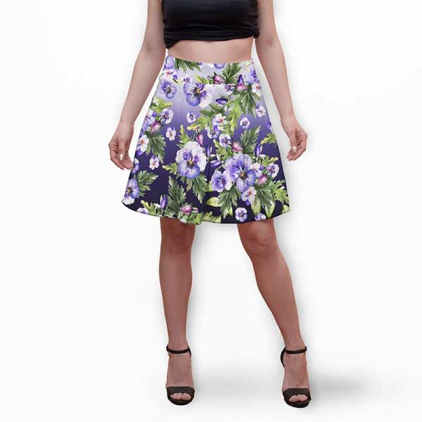 Разкроена дамска пола с 3D авторски принт Veny