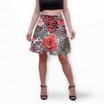 Разкроена дамска пола с 3D авторски принт Мойра
