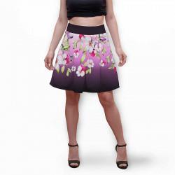 Разкроена дамска пола с 3D авторски принт Shana