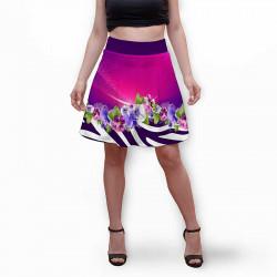 Разкроена дамска пола с 3D авторски принт Lolipop