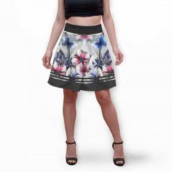 Разкроена дамска пола с 3D авторски принт Виктория
