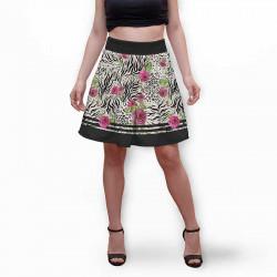 Разкроена дамска пола с 3D авторски принт Катерина
