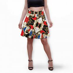 Разкроена дамска пола с 3D авторски принт Selene