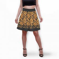 Разкроена дамска пола с 3D авторски принт Veronic