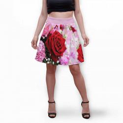 Разкроена дамска пола с 3D авторски принт Rozy