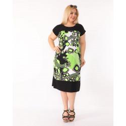 Прелестна дамска рокля със средна дължина и къс ръкав