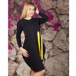 Елегантна дамска рокля Балон цвят черен