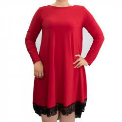 Дамска Макси рокля с дантела Росела