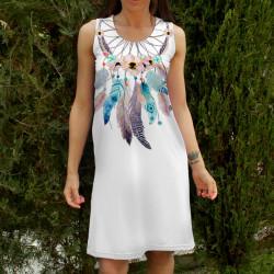 Стилна дамска лятна рокля Flowers dream