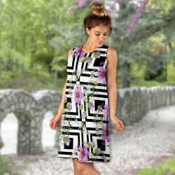 Дамска къса рокля 6907