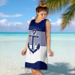 Стилна дамска лятна рокля 5400