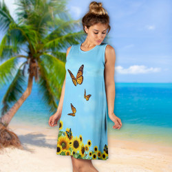 Дамска къса рокля 6928