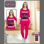 Спортен дамски комплект туника с клин Fashion