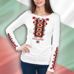 3D дамска блуза принт с фолклорни мотиви