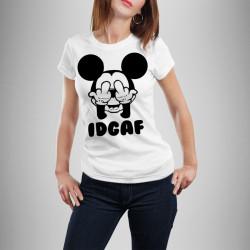 Дамска тениска с щампа ''IDCAF''