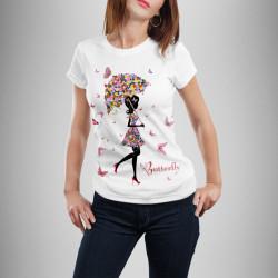 Дамска тениска с щампа ''Butterfly Gerry''