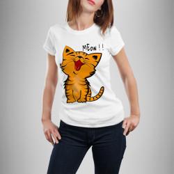 Дамска тениска с щампа Meow