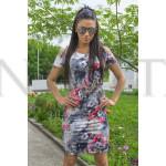 Стилна дамска лятна рокля с цветен принт