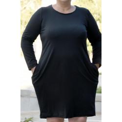 Ефирна дамска рокля в черно - Maxi