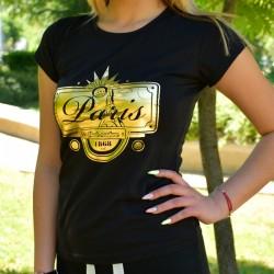 Дамска черна тениска с щампа ''PARIS''
