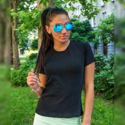 Дамска изчистена черна тениска