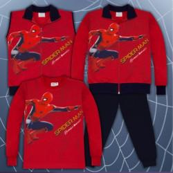 Детски спортен комплект от 4 части Спайдърмен в червено