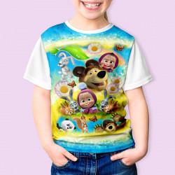 Тениска за момиче МАША И МЕЧОКА