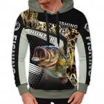 3D мъжки спортен суитшърт Carp Fishing # 7018