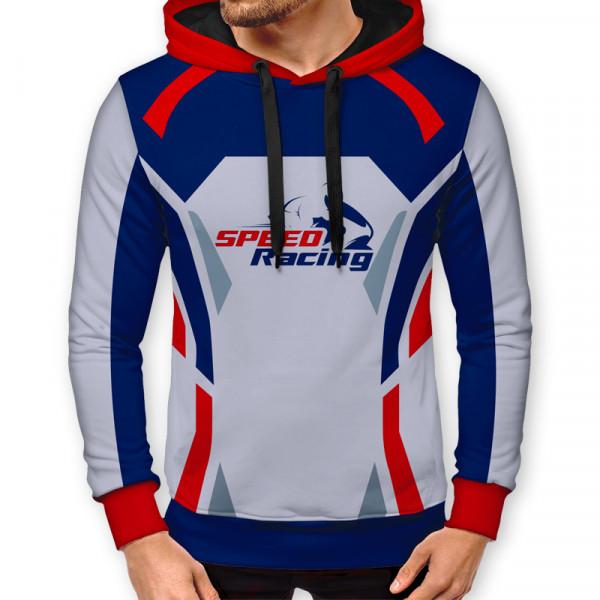 3D мъжки спортен суитшърт SPEED RACING # 7290