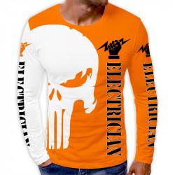 3D мъжка блуза принт ELECTRICIAN ORANGE