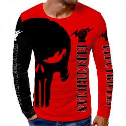 3D мъжка блуза принт ELECTRICIAN RED