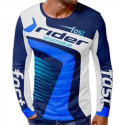 3D мъжка блуза принт RIDER BLU