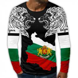 3D мъжка блуза принт Български лъвове