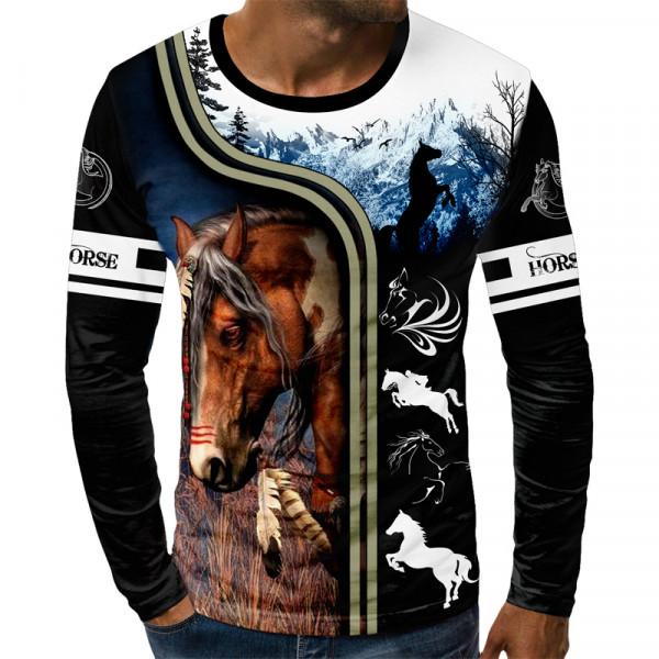 3D мъжка блуза HORSE