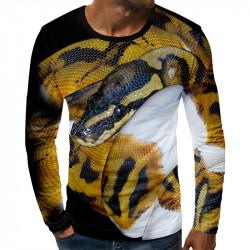 3D мъжка блуза принт ПИТОН