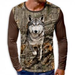 3D мъжка блуза ВЪЛК
