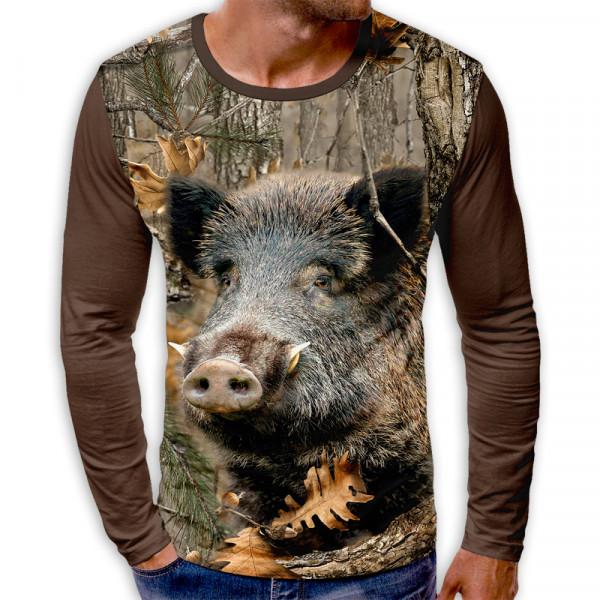 3D мъжка блуза BOAR CAMOUFLAGE