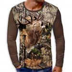 3D мъжка блуза DEER CAMOUFLAGE