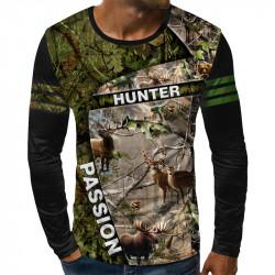 3D мъжка блуза HUNTER PASSION